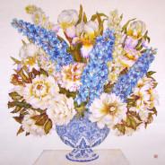 «Букет в синей вазе» 90х90см